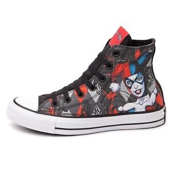 e71de12c79c9 Harley Quinn Converse womens size 5 shoes