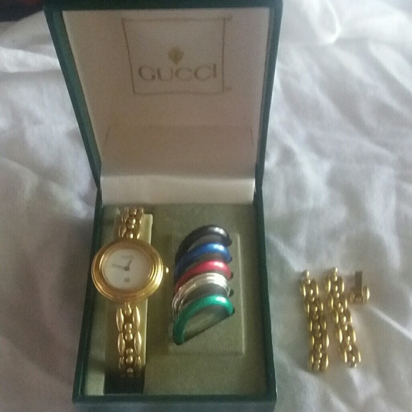 544751021627 Gucci Jewelry - Vintage Gucci Rice Bracelet Watch set. 1100 1200
