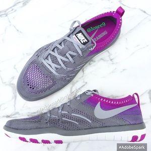 Nike Shoes - Nike free tr focus flyknit women's sneakers gray