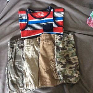 Gymboree Other - Bundle of boys size 3t shorts and tank