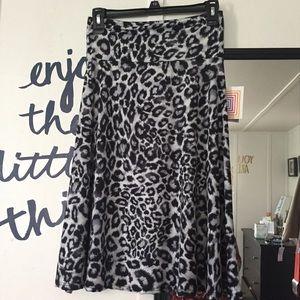 LuLaRoe Animal Print Azure Skirt