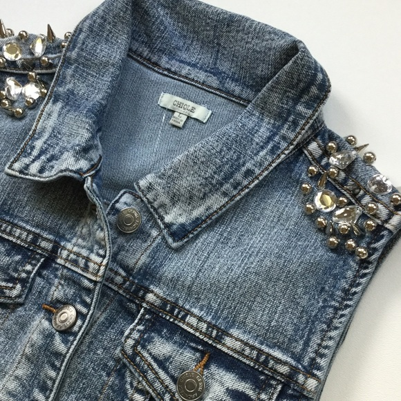 Chiqle Denim Jackets & Coats - Chiqle Denim Architect Vest