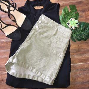 refuge Pants - Army green jean shorts!