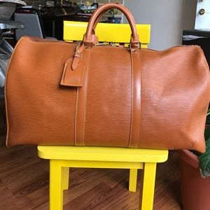 Louis Vuitton Handbags - 🔴FIRM PRICE🔴Louis Vuitton Epi Keepall 50 Tan ❤️
