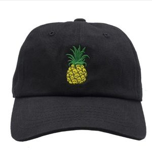Other - Pineapple Dad Hat Black