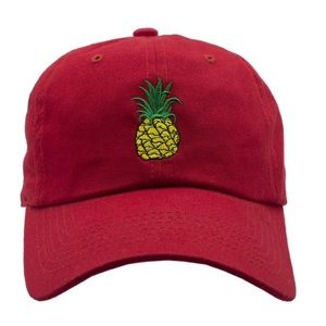 Other - Dad Pineapple Hat-Red