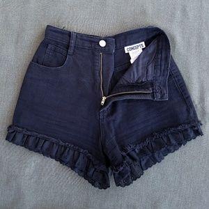 Vintage Pants - ❤HOST PICK❤ Vtg High Waisted Eyelet Hem Shorts