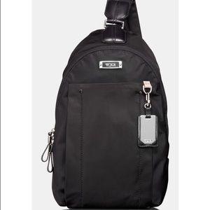 "Tumi Handbags - ""TUMI - Women' s Black Voyageur - Sling Backpack"""