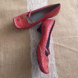Clarks Shoes - Indigo by Clarks red maryjane kitten heels