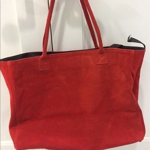 Red suede bag