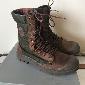 Palladium Other - Mens Palladium boots green and brown size 8