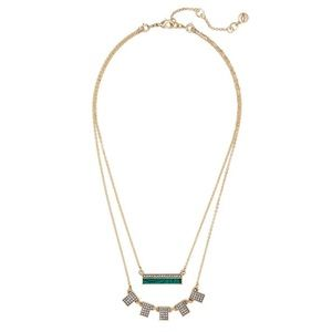 Chloe + Isabel Jewelry - ▪️Chloe and Isabel Malachite and Pave Necklace▫️