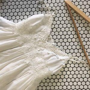 Topshop Dresses & Skirts - TOPSHOP PETITE White skater dress summer