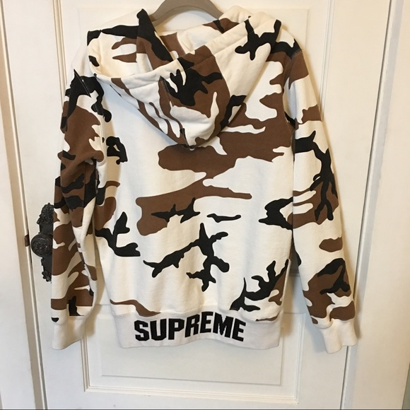 Supreme Supreme Cow Camo Zip Up Hoodie F W 2016 From Kenzie S Closet On Poshmark