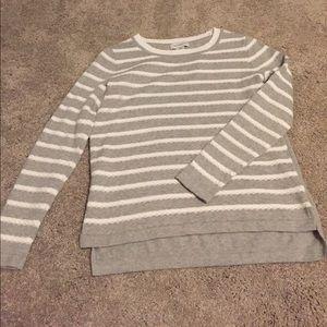 Liz Claiborne Sweaters - Grey and white striped Liz Claiborne sweater