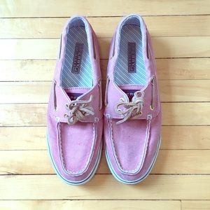 SPERRY TOPSIDER PINK BOAT SHOES