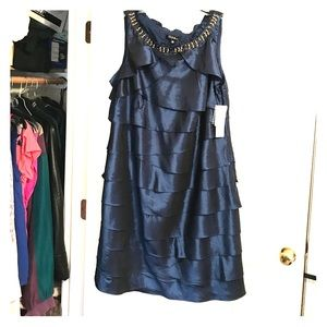 Taffeta tier dress
