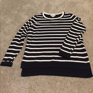 Liz Claiborne Sweaters - black and white striped Liz Claiborne sweater