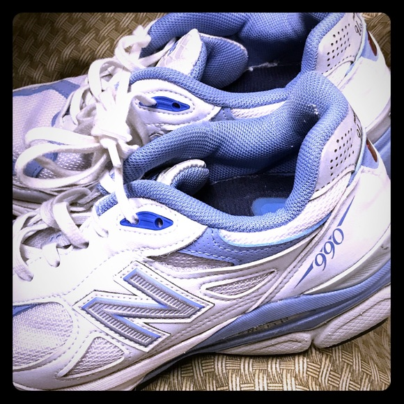 innovative design d9c81 8d427 New Balance 990. White with blue