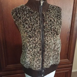 lisa international Sweaters - Faux Fur vest