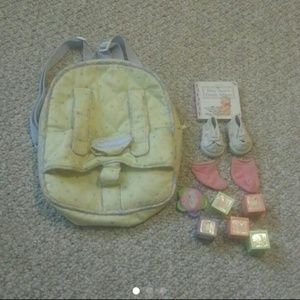 Bitty Baby Backpack & Lot of Items