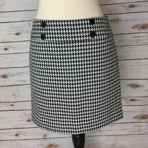 The Limited Houndstooth Skirt