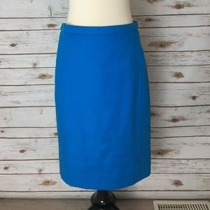 Jcrew Blue Pencil Skirt