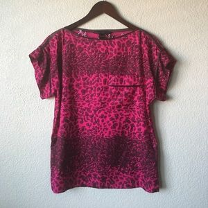 Marc by Marc Jacobs Magenta Printed Silk Blouse