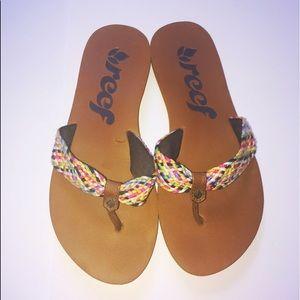 Reef Shoes - Women's Size 6 Reef Flip-Flops, worn once