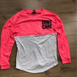 Rue21 Tops - Rue21 don't care long sleeves tee