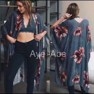 08925b4c02ee9 Accessories - New Floral print kimono wrap coverup open cardigan