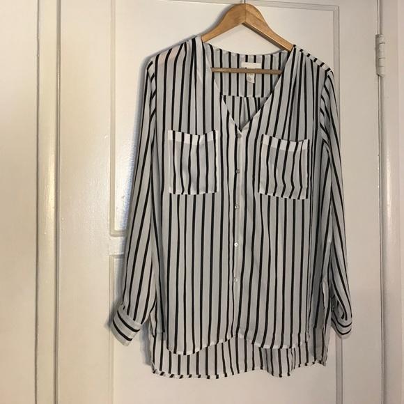 Oversized Long Sleeve Blouse 32