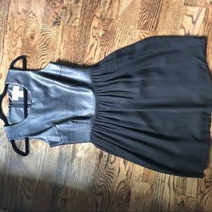 julie brown Dresses & Skirts - JULIE BROWN BLACK LEATHER TOP DRESS
