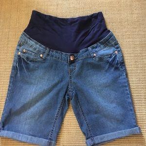 Planet Motherhood Pants - Planet Motherhood Maternity jean shorts
