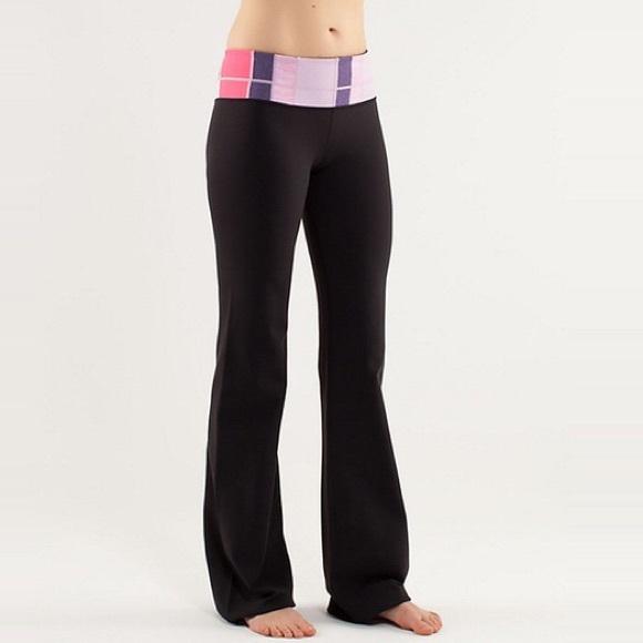 777d7ee26d420 lululemon athletica Pants - Lululemon Groove Yoga Pants Flare Sz 4 Long Tall