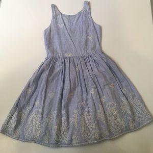 Derhy Kids Other - Derhy Kids Pinstripe Cross Stitch Dress Size 8/10