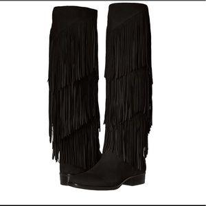 Sam Edelman Shoes - Sam Edelman pendra black fringe boots.