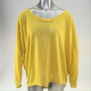 Tops - Yellow Oversized High Low Top
