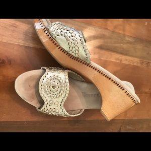 Jack Rogers Shoes - Jack Rogers wooden wedge sandal