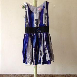 Zoe Ltd Other - ZOE LTD girls jeweled waist printed dress