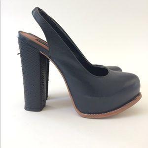 Steven by Steve Madden Shoes - StEVEN by Steve Madden black snakeskin heels Sz 8