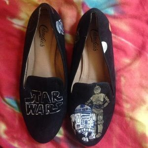 Blackmilk Shoes - Star Wars Velvet Handpainted Flats