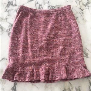 Pink Harold's Trumpet Style Wool Skirt