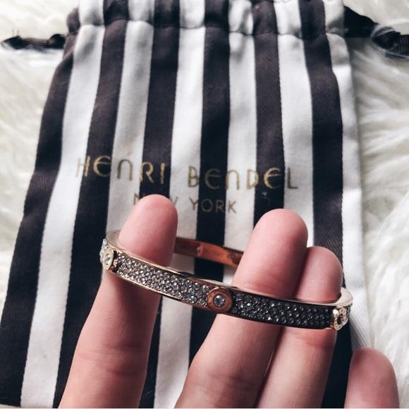 Henri Bendel Jewelry Miss Bendel Pave Bangle Bracelet Poshmark