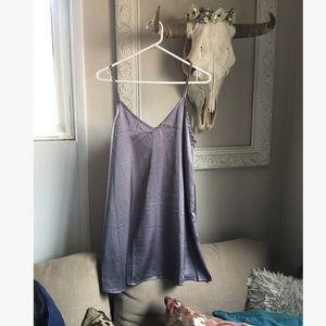 Grey Silk Slip Dress