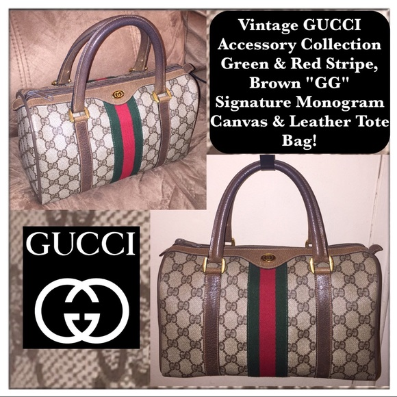 d4ae36b698 Gucci Handbags - Vtg GUCCI Accessory Collection Signature Tote Bag!