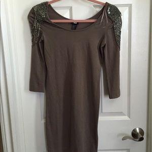 H&M dress with beaded shoulder embellishment