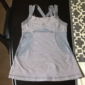 lululemon athletica Tops - Cute Lululemon size 6 tank with lace detail 💕