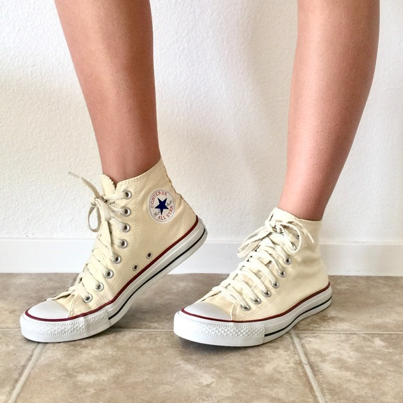 40ee82c8f6ab76 Converse Shoes - Light Yellow High-Top Converse