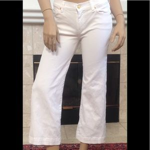 7 FOR  ALL MANKIND WHITE CROPPED DOJO JEANS SZ 27